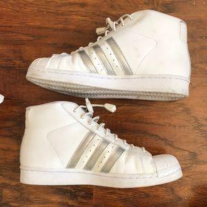 White Adidas Sneakers size 51/2